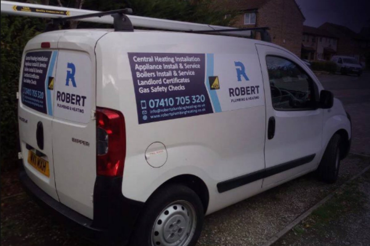 plumber car Robert plumbing & heating